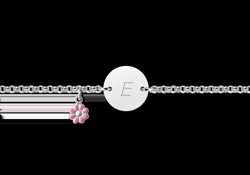Gegraveerde Zilveren armbandje baby met naam Model E