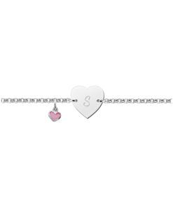 Graveer Hier Uw zilveren armbandje baby met naam cursief