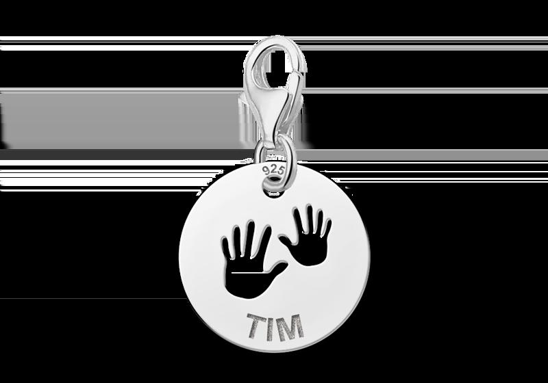 Graveer Hier☝️Jouw Naambedel Zilver Baby Handjes ✅