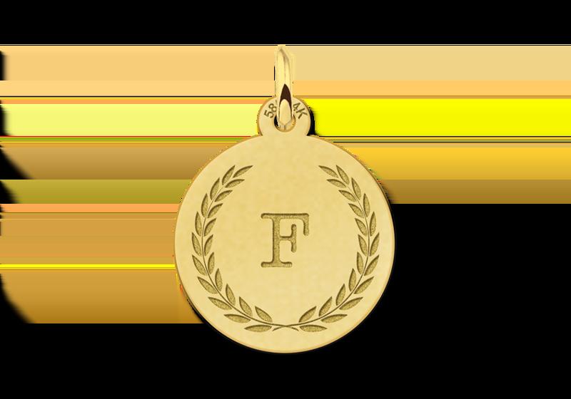 Gouden ketting met letter