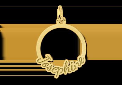 Gouden communie hanger met naam