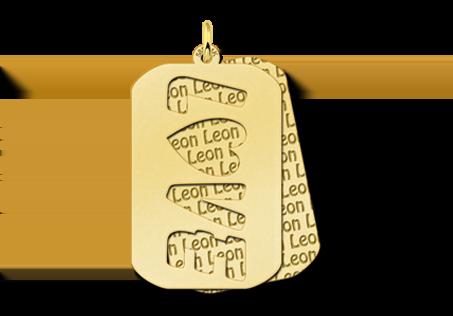 Gouden hanger name tag