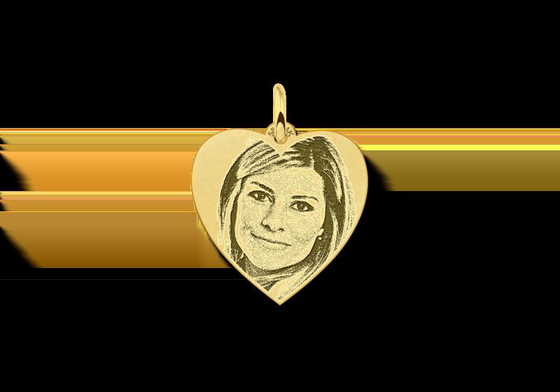Names4ever Gouden hart hanger met foto