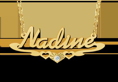 Goud vergulde ketting met naam model Nadine Gepersonaliseerd