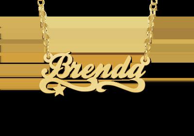 Gouden kinder naamketting model Brenda Gepersonaliseerd