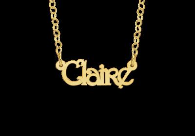 Personaliseer Hier Uw Gouden kinder naamketting model Claire ✅