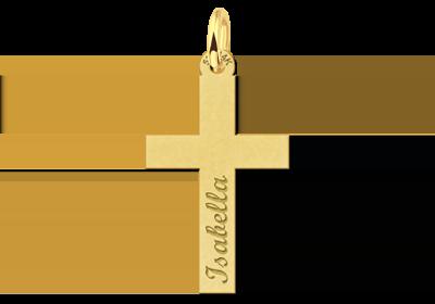 Gouden kruis heilige communie