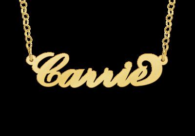 Gouden Naamketting Carrie style Gepersonaliseerd