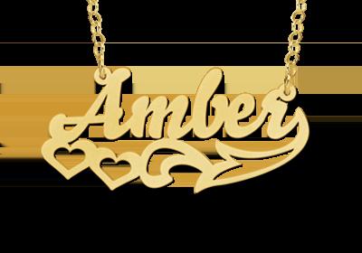 Gouden naamketting model Amber Gepersonaliseerd