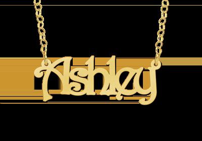 Gouden naamketting model Ashley Gepersonaliseerd
