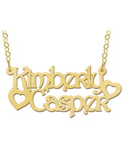 Gouden naamketting model Kimberly-Casper Gepersonaliseerd