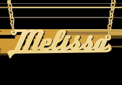 Gouden naamketting model Melissa Gepersonaliseerd