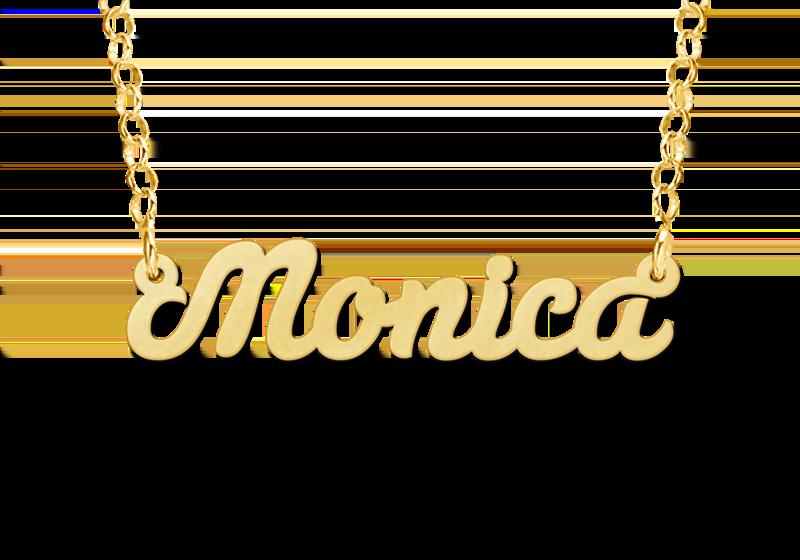 Gouden naamketting model Monica Gepersonaliseerd