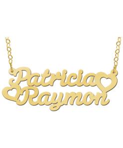 Gouden naamketting model Patricia-Raymon Gepersonaliseerd