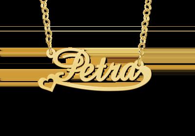 Gouden naamketting model Petra Gepersonaliseerd