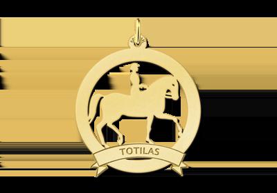 Gouden paarden bedels met ruiter