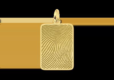 Gouden vingerafdruk sieraad dogtag gegraveerd