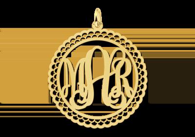 Initialen letter hanger