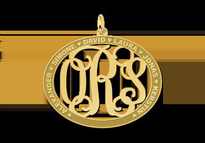 Initialen letter hanger met namen