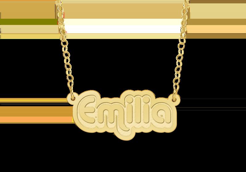Kinder naamketting goud model Emilia Gepersonaliseerd