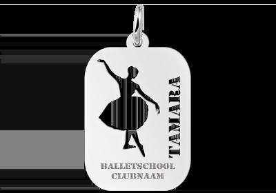 Sportbedel zilver ballet