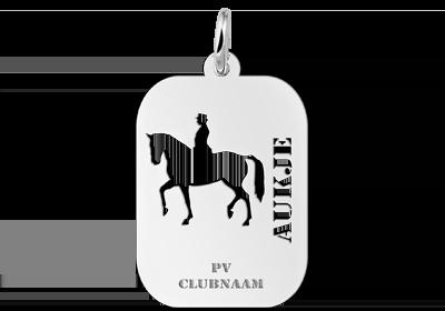Sportbedel zilver paardrijden