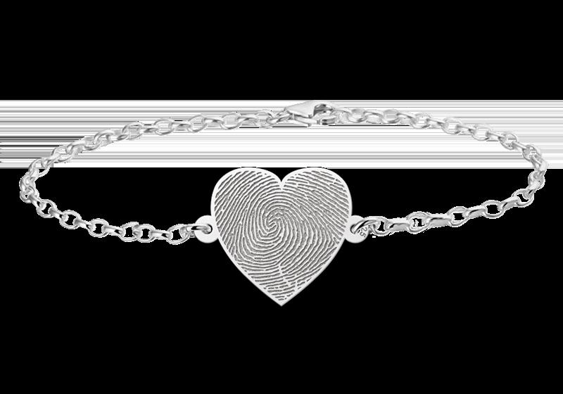 Graveer Hier☝️Jouw Zilveren Armband Met Vingerafdruk Hartje Gegraveerd ✅