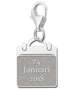 Graveer Hier☝️Jouw Zilveren Baby Bedel Kalendertje ✅