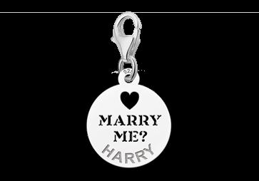 Graveer Hier☝️Jouw Zilveren Bedel Marry Me Met Naam