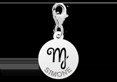 Graveer Hier☝️Jouw Zilveren Bedel Zodiac Maagd ✅