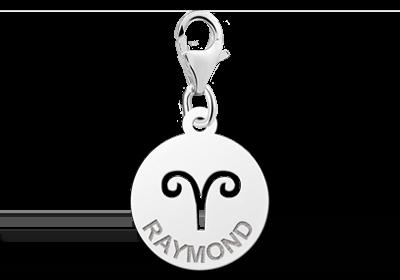 Graveer Hier☝️Jouw Zilveren Bedeltje Zodiac Ram ✅