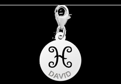 Graveer Hier☝️Jouw Zilveren Charm Zodiac Vissen ✅