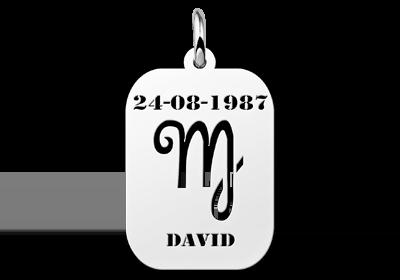 Zilveren hanger astrologie Maagd