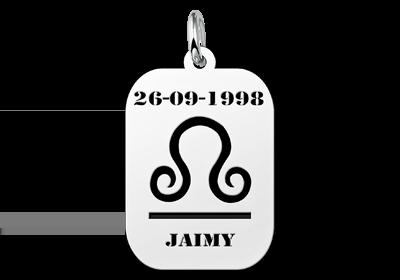 Zilveren hanger astrologie Weegschaal