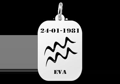 Zilveren hangertje astrologie Waterman