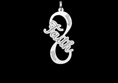 Zilveren infinity hanger faith