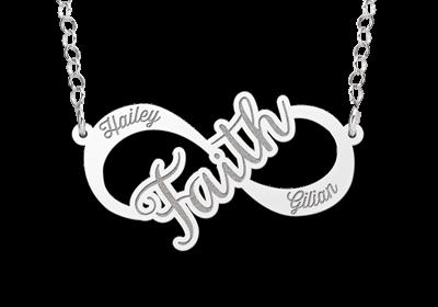 Zilveren infinity ketting faith