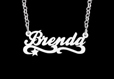 Zilveren kinder naamketting model Brenda Gepersonaliseerd