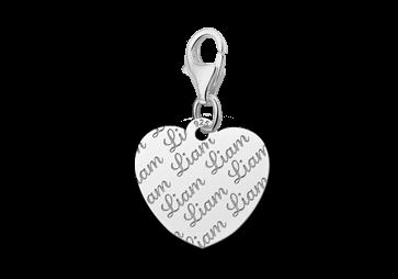 Graveer Hier☝️Jouw Zilveren Naambedel Repeat Hart ✅