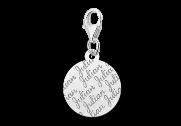 Graveer Hier☝️Jouw Zilveren Naambedel Repeat Rond ✅