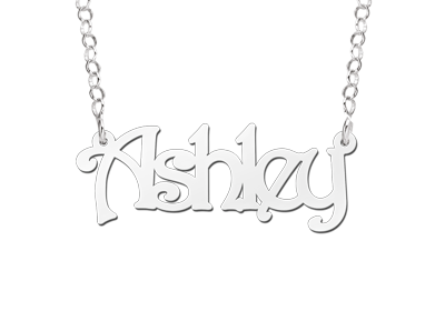 Zilveren naamketting model Ashley Gepersonaliseerd