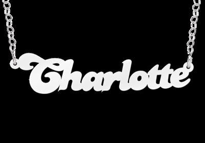 Zilveren naamketting model Charlotte Gepersonaliseerd