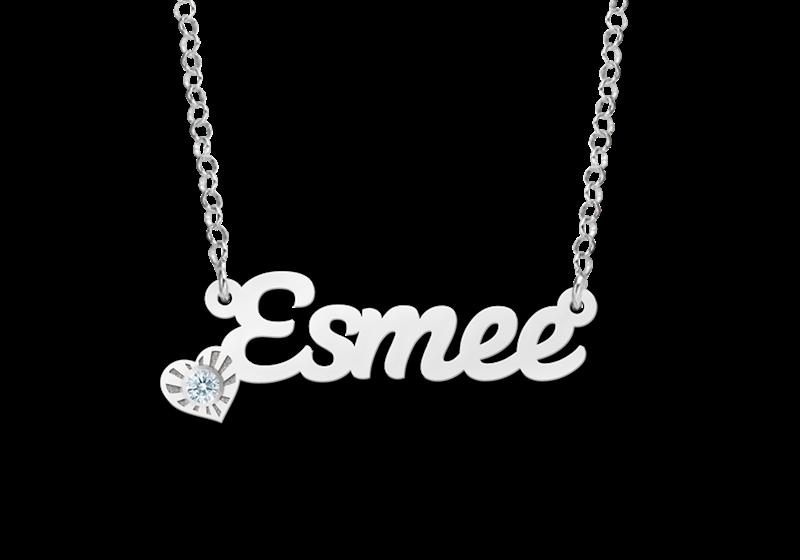 Zilveren naamketting model Esmee Gepersonaliseerd