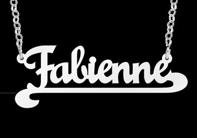 Zilveren naamketting model Fabienne Gepersonaliseerd