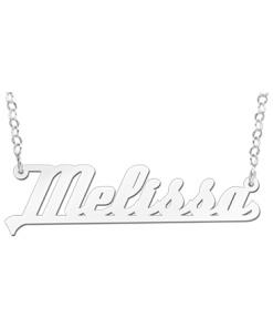 Zilveren naamketting model Melissa Gepersonaliseerd