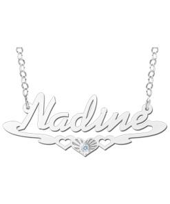 Zilveren naamketting model Nadine Gepersonaliseerd