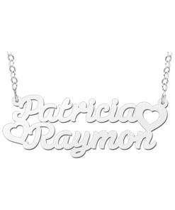 Zilveren naamketting model Patricia-Raymon Gepersonaliseerd