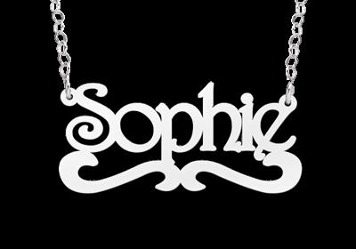 Zilveren naamketting model Sophie Gepersonaliseerd