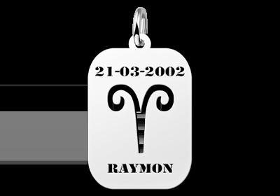 Zilveren sieraad astrologie Ram