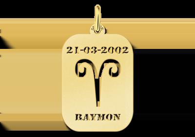 Gouden Hanger met naam Ram